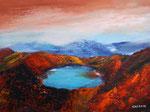 Kratersee, Acryl auf Keilrahmen, 60x80 cm 160 Euro