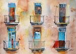 Hausansicht Havanna , 30x40 cm, 130 Euro ohne Rahmen