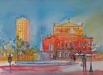 Alte Oper Frankfurt, Variation, 46x61 cm, 160 Euro ohne Rahmen, Kursarbeít Andreas Mattern