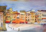 das ist Elviras Gemälde von der Piazza del Campo