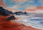 vor dem Sturm, Acryl auf Keilrahmen, 50x70 cm 140 Euro