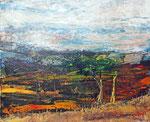 fließende Landschaft, Mischtechnik 50x60 cm, 150 Euro