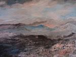 kalte Berge Acryl auf Keilrahmen, 60x80 cm 180 Euro