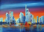 New York Skyline, Acryl auf Keilr. 60x80 cm Kursarb. B. Klimmer, 230 Euro