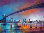 Brooklyn bridge, Acryl auf Keilrahmen 60x80 cm, 270 Euro