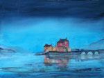 Eilean Donan Castle, Schottland,  Aquarell, 46x61 cm, 210 Euro ohne Rahmen
