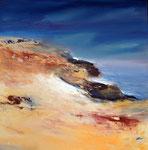 am Meer. Acryl auf Keilr. 80x80 cm, Kursarb. B. Klimmer, 230 Euro