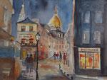 Monmartre bei Nacht, 30x40 cm 95 Euro