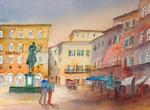 die Piazza della Signorina, von Elvira malerisch eingefangen