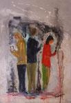 social networking, Acryl auf Keilrahmen 50x70 cm  vergeben