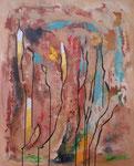 Krokusse im Dezember, Acryl auf Keilrahmen, 80x100 cm 170 Euro