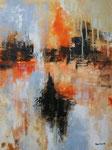 Variation in Orange I, Acryl auf Keilrahmen, 60x80 cm, Kursarbeit P. Seharsch, 160 Euro