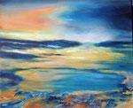 still ruht der See, Mischtechnik Acryl/Öl auf Keilr. 60x70 cm 150 Euro