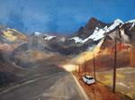 vor dem Horizont. Geht´s weiter?, Acryl 60x80 cm, Kursarbeit B. Klimmer 220 Euro