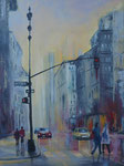 Rainy day in New York Variation Acryl auf Keilr. 60x80 cm, 270 Euro