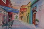 Gasse in Puerto Cruz gemalt von EW