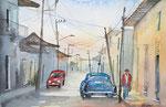 Kuba, Dorfszene, 36x51 cm, 165 Euro ohne Rahmen