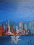 Glitzer der Großstadt, Acryl auf Keilrahmen, 60x80 cm, 160 Euro
