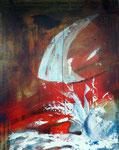 Weltenbrand, Acryl 80x100 cm, 575 Euro