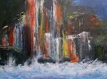 Los Organos, La Gomera, Acryl auf Keilrahmen, 60x80 cm Kursarbeit P. Seharsch 160 Euro