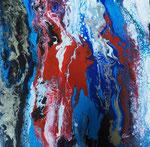 blue motion I, Acryl auf Keilr. 40x40 cm, 60 Euro