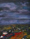 Flores im Regen, Acryl auf Keilrahmen, 60 x 80, Kursarbeit B. Klimmer 150 Euro