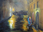 heart rain, Acryl auf Keilrahmen, 60x80 cm, 220 Euro