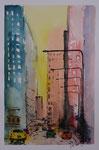 Großstadtszene, aquarellierte Zeichnung, 20x30 cm , Kursarbeit B. Klimmer 60 Euro unger.