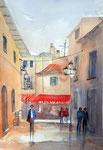 Alcudia Mallorca, 36x51 cm, 145 Euro ungerahmt, plein air gemalt
