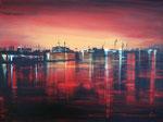 Nacht am Hafen Acryl 60x80 cm, 230 Euro, vergeben