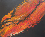 Lava, Acryl auf Keilrahmen 50x60 cm, 140 Euro