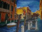 Venedig I, Acryl auf Keilrahmen, 60x80, Kursarbeit B. Klimmer 140 Euro