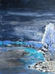 Uferimpression, Acryl auf Keilrahmen, 60x80 cm 130 Euro