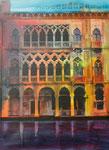 Venedig IV, Acryl auf Keilrahmen, 60x80, Kursarbeit B. Klimmer 155 Euro
