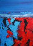 roter Abhang, Acryl auf Keilrahmen, 60x80 cm , Kursarbeit B. Klimmer 160 Euro