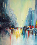 morning in the City, Acryl auf Keilr. 50x60 cm, Kursarb. B. Klimmer, 180 Euro