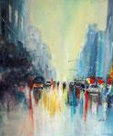 morning in the City, Acryl auf Keilr. 50x60 cm, Kursarb. B. Klimmer, 180 Euro
