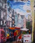 Stadtansicht Herborn, Acryl auf Keilrahmen, 50x60 cm  95 Euro