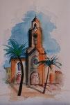 Kirche in Puerto Cruz 31x45 cm 65 Euro unger.