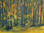 Waldstimmung, Acryl auf Keilrahmen, 60x80 cm, Kursarbeit Bernd Klimmer 180 Euro