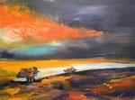 letzte Sonnenstrahlen, Acryl auf Keilrahmen, 60x80 cm  vergeben