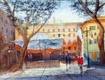 passeig del born , Palma de Mallorca, 30x40 cm, 125 Euro ungerahmt, plein air gemalt