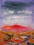 Faial nach dem Regen, Acryl auf Keilrahmen, 60 x 80, Kursarbeit B. Klimmer 150 Euro