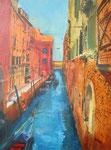Venedig III, Acryl auf Keilrahmen, 60x80, Kursarbeit B. Klimmer 155 Euro