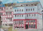 Marktcafe Herborn, Aquarell, 36 x 48. vergeben