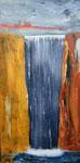 Wasserfall, Acryl auf Keilrahmen. 50 x 100 150 Euro