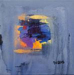 Sommernacht I , informell, Acryl auf Keilrahmen 30x30 cm, Kursarbeit B. Klimmer 3 Bilder komplett 125 Euro