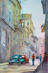 Havanna street, Aquarell 36x51 cm, 170 Euro ohne Rahmen