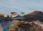 Cottages, Aquarell 30x40 cm, Kursarbeit B. KLimmer 90 Euro