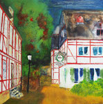 Hohe Schule Herborn, Acryl 80x80 cm 350 Euro